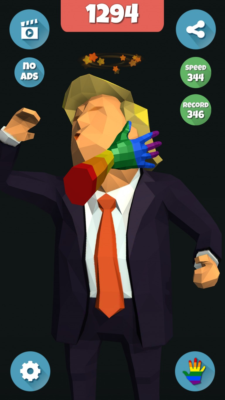 Trump, Fake Slap, Clicker, Idle, Incremental, Game, Joke, Slap, Game development, game design, game art